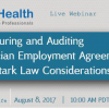 Webinar on Structuring and Auditing Physician Employment Agreements: Key Stark Law Considerations by Joseph Wolfe
