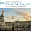 The Symposium on Clinical Pain Trials in Europe, London 2017